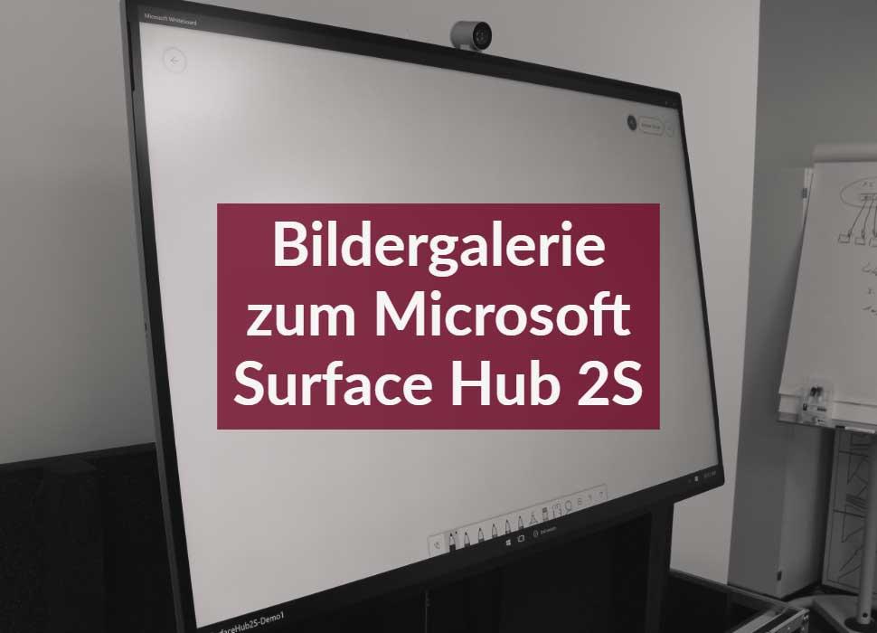 Bildergalerie zum Microsoft Surface Hub 2S