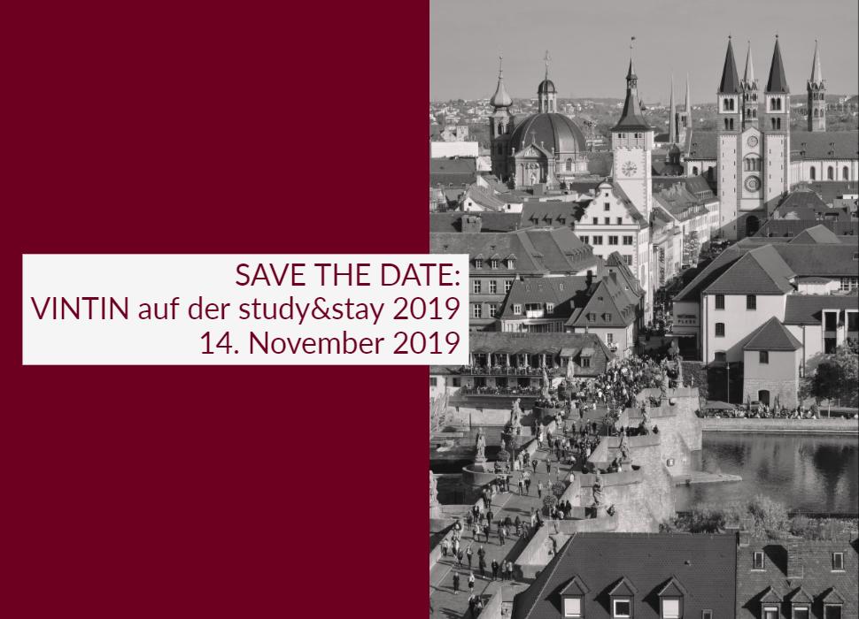 SAVE THE DATE: VINTIN auf der study&stay 2019 14. November 2019