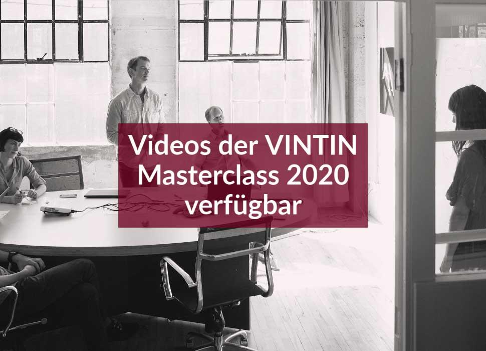 Videos der VINTIN Masterclass 2020 verfügbar
