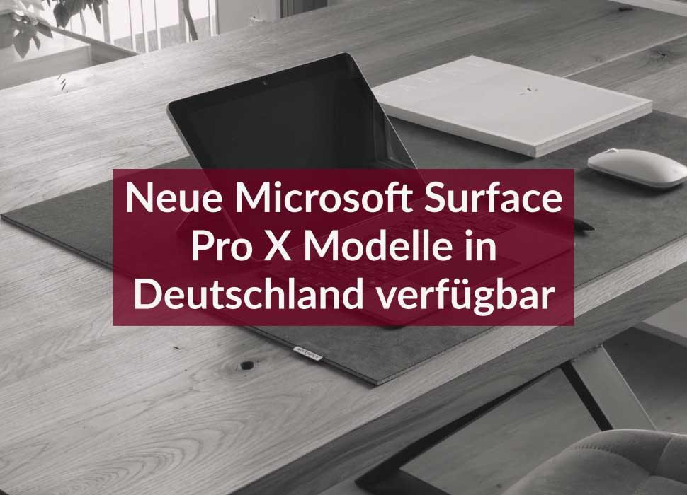 Neue Microsoft Surface Pro X Modelle in Deutschland verfügbar