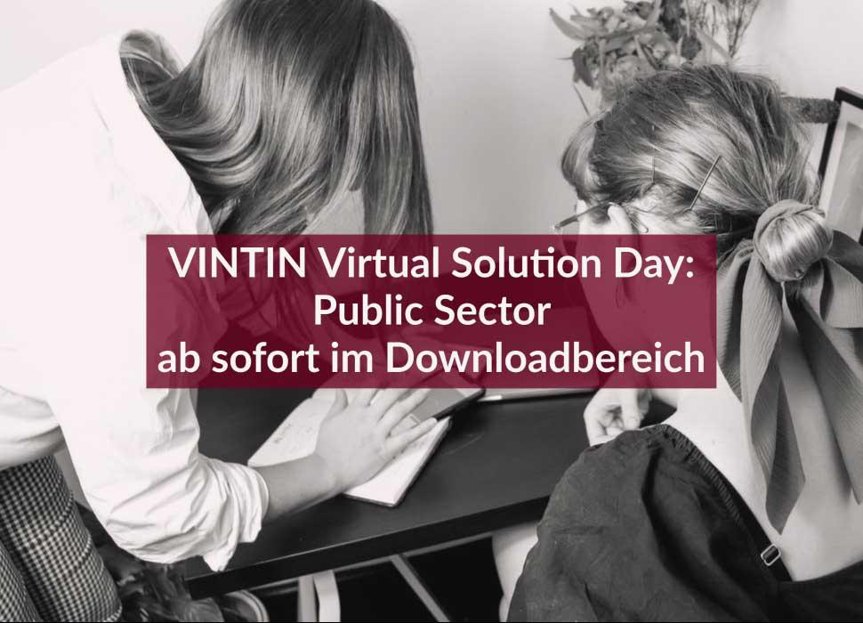 VINTIN Virtual Solution Day: Public Sector ab sofort im Downloadbereich