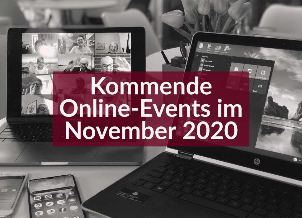 Kommende Online-Events im November 2020