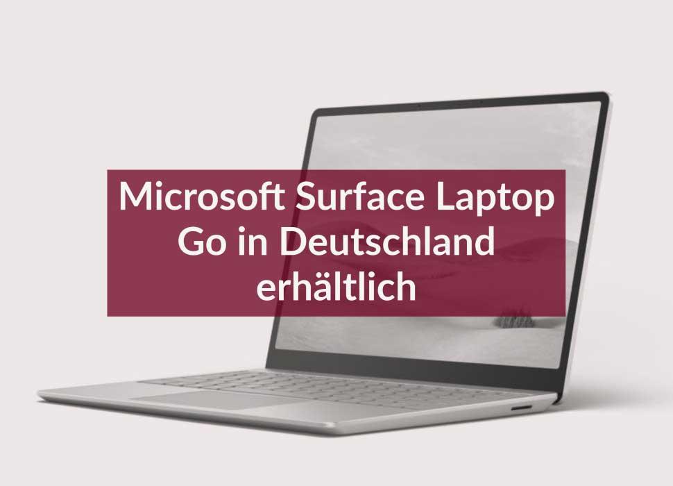 Microsoft Surface Laptop Go in Deutschland erhältlich