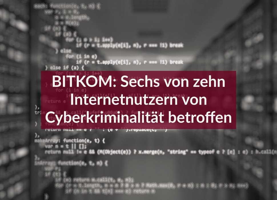 BITKOM: Sechs von zehn Internetnutzern von Cyberkriminalität betroffen