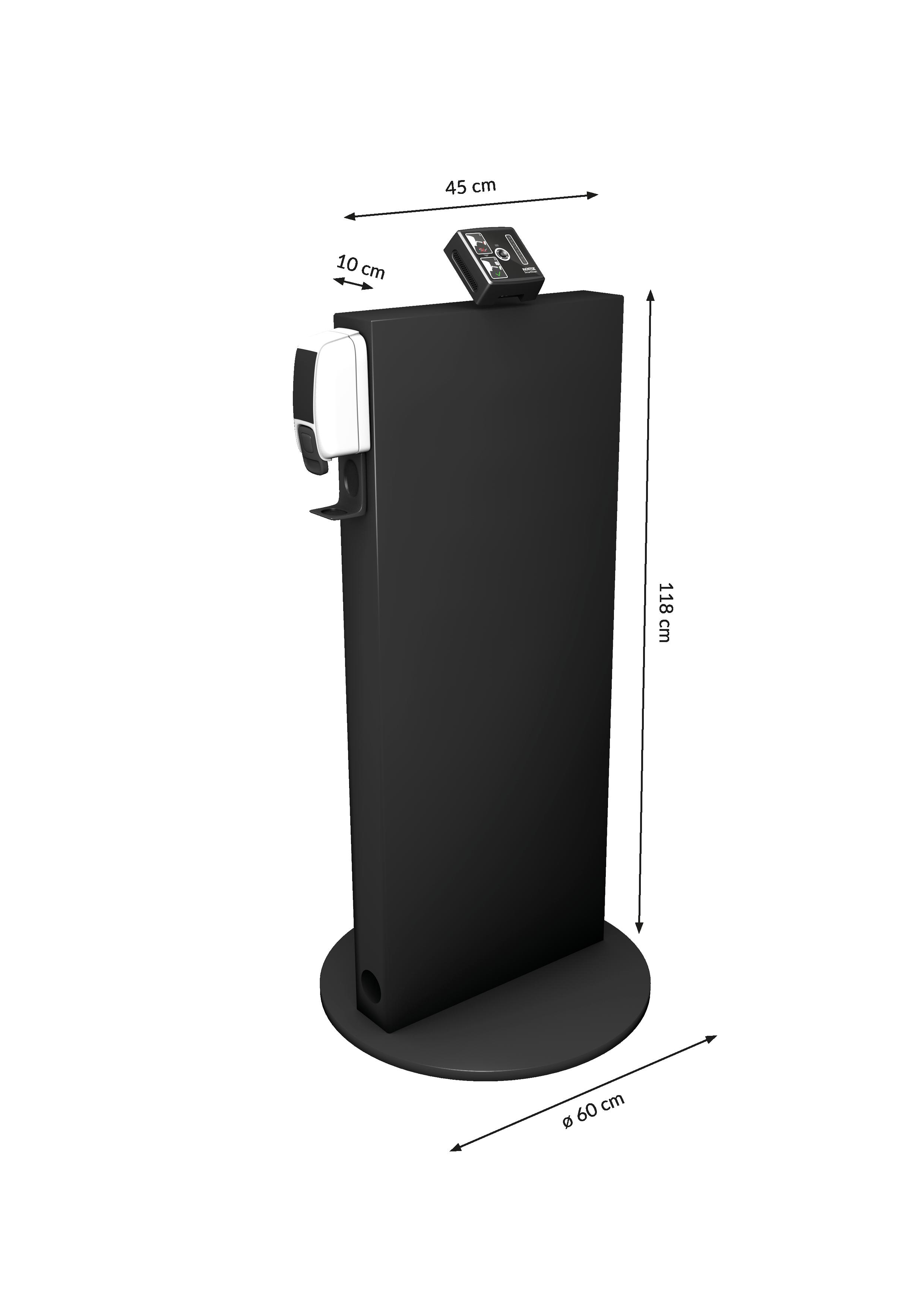 Kentix SmartXcan mit Stele von VINTIN - Maße