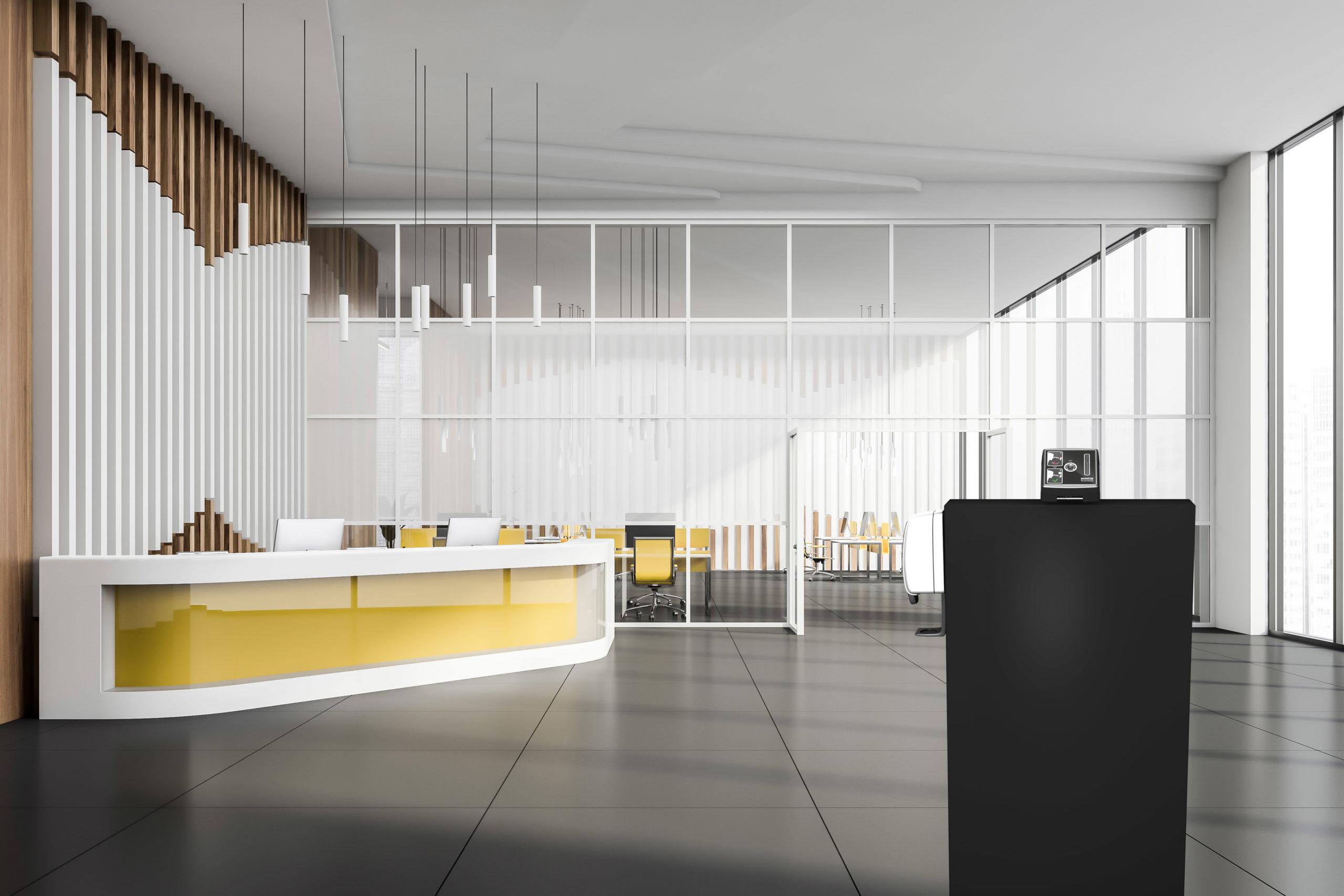 Kentix SmartXcan mit Stele von VINTIN - Eingangsbereich Innen