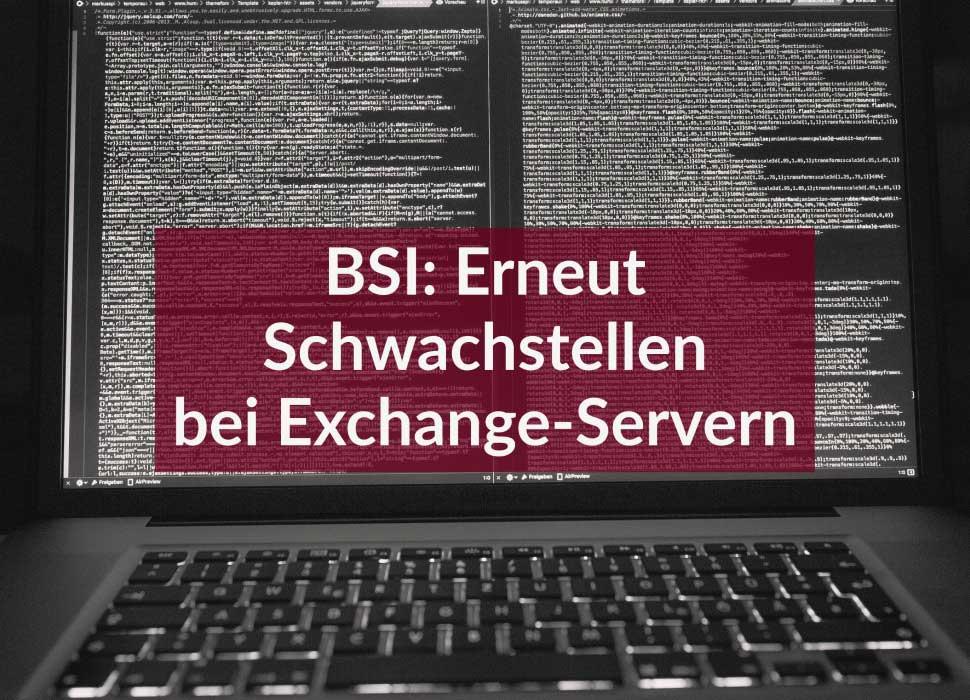 BSI: Erneut Schwachstellen bei Exchange-Servern