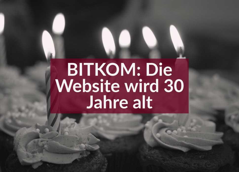 BITKOM: Die Website wird 30 Jahre alt