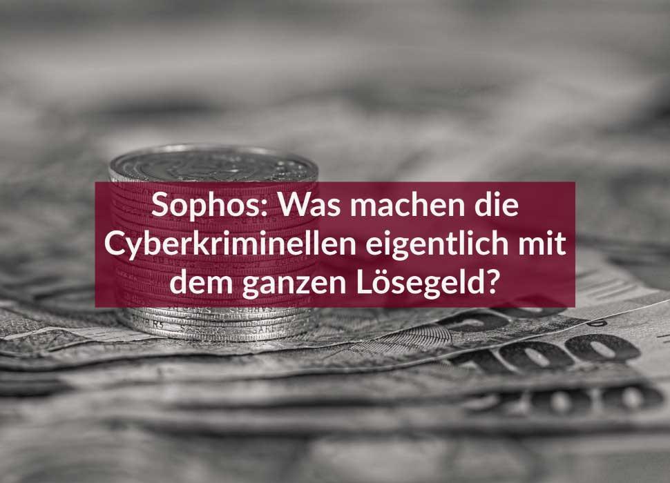 Sophos: Was machen die Cyberkriminellen eigentlich mit dem ganzen Lösegeld?