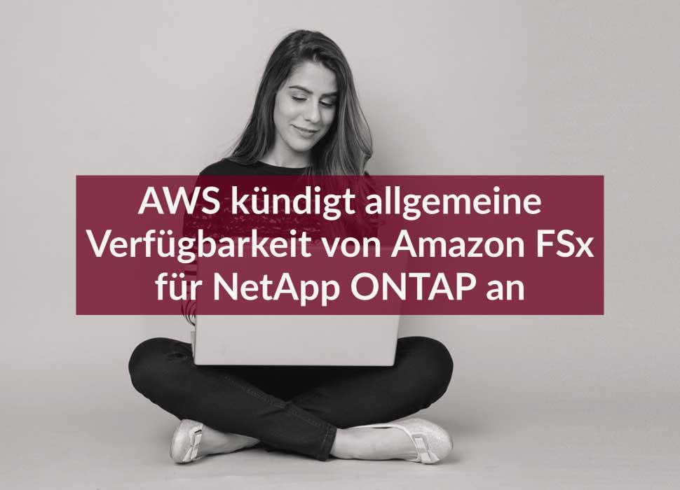 AWS kündigt allgemeine Verfügbarkeit von Amazon FSx für NetApp ONTAP an
